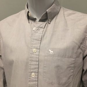 Abercrombie & Fitch grey M slim button up shirt